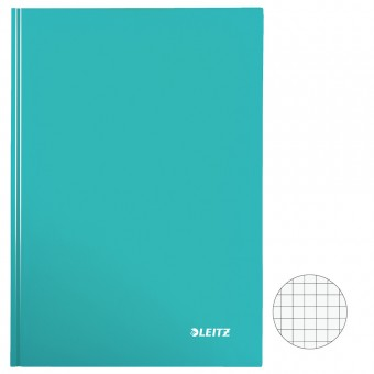 Leitz notizbuch 4626 wow a4 kariert eisblau metallic 80 for Servietten eisblau