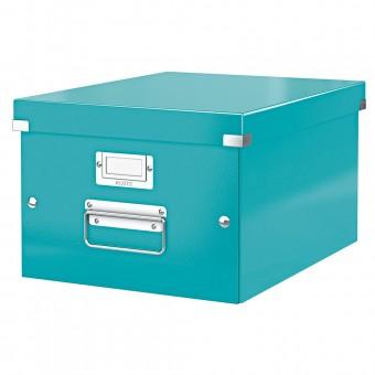 Leitz aufbewahrungsbox 6044 click store a4 wow eisblau for Servietten eisblau