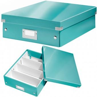 Leitz aufbewahrungsbox 6058 click store a4 wow eisblau for Servietten eisblau