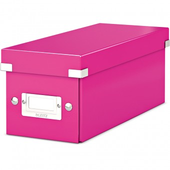leitz cd box 6041 click store wow pink eoffice24. Black Bedroom Furniture Sets. Home Design Ideas