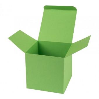 Geschenkverpackung / Würfelschachtel Buntbox S - grün, 5,5 x 5,5 x 5,5 cm