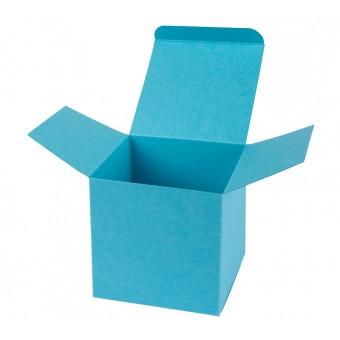 Geschenkverpackung / Würfelschachtel Buntbox S - hellblau, 5,5 x 5,5 x 5,5 cm