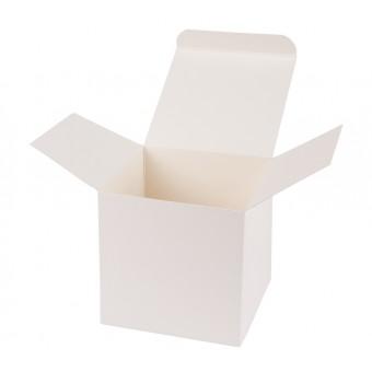 Geschenkverpackung / Würfelschachtel Buntbox S - beige, 5,5 x 5,5 x 5,5 cm
