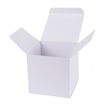 Geschenkverpackung / Würfelschachtel Buntbox S - weiß, 5,5 x 5,5 x 5,5 cm