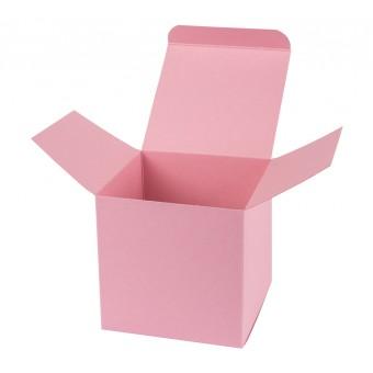 Geschenkverpackung / Würfelschachtel Buntbox S - rosa, 5,5 x 5,5 x 5,5 cm