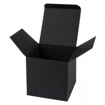 Geschenkverpackung / Würfelschachtel Buntbox S - schwarz, 5,5 x 5,5 x 5,5 cm