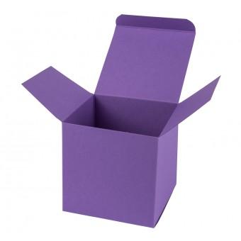 Geschenkverpackung / Würfelschachtel Buntbox S - lila, 5,5 x 5,5 x 5,5 cm
