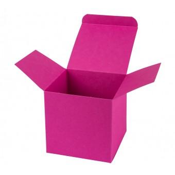 Geschenkverpackung / Würfelschachtel Buntbox S - pink, 5,5 x 5,5 x 5,5 cm