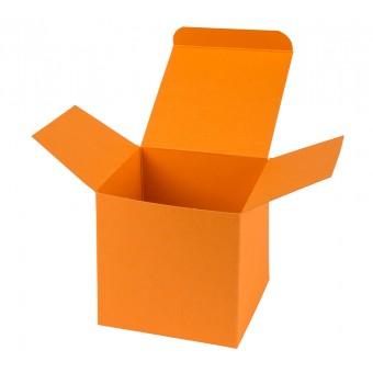 Geschenkverpackung / Würfelschachtel Buntbox S - orange, 5,5 x 5,5 x 5,5 cm