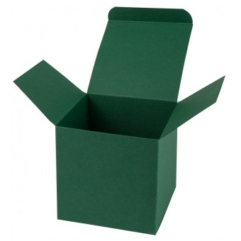 Geschenkverpackung / Würfelschachtel Buntbox S - dunkelgrün, 5,5 x 5,5 x 5,5 cm