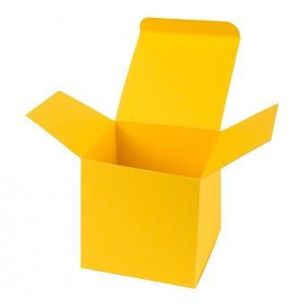 Geschenkverpackung / Würfelschachtel Buntbox S - gelb, 5,5 x 5,5 x 5,5 cm