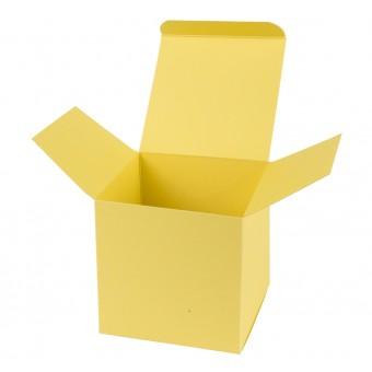 Geschenkverpackung / Würfelschachtel Buntbox S - hellgelb, 5,5 x 5,5 x 5,5 cm
