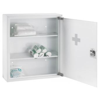 alco erste hilfe schrank 863 360 x 150 x 460 mm wei mit glast r eoffice24. Black Bedroom Furniture Sets. Home Design Ideas