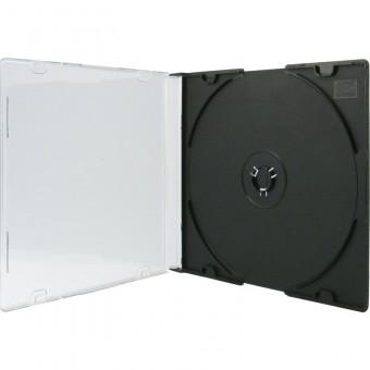 cd dvd h llen slim case transparent schwarz 10 st ck eoffice24. Black Bedroom Furniture Sets. Home Design Ideas