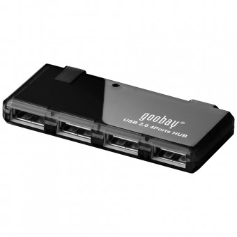 USB Hub Mini goobay 95912 USB 2.0 Hi-Speed 4 Port