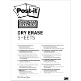 Whiteboardfolie Post-it Super Sticky Dry Erase DEFPackL-EU, 15 Blatt
