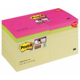 Post-it Notes Supersticky 76x76mm Promotion Set, 14 Stück + 4 Gratis