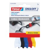 Cable Manager tesa 55236 Velcro Small, 5 Stück