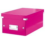 DVD Box Leitz 6042 Click & Store WOW pink