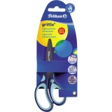 Pelikan Schere Bastelschere Griffix mit Softgriff Farbe blau für Rechtshänder