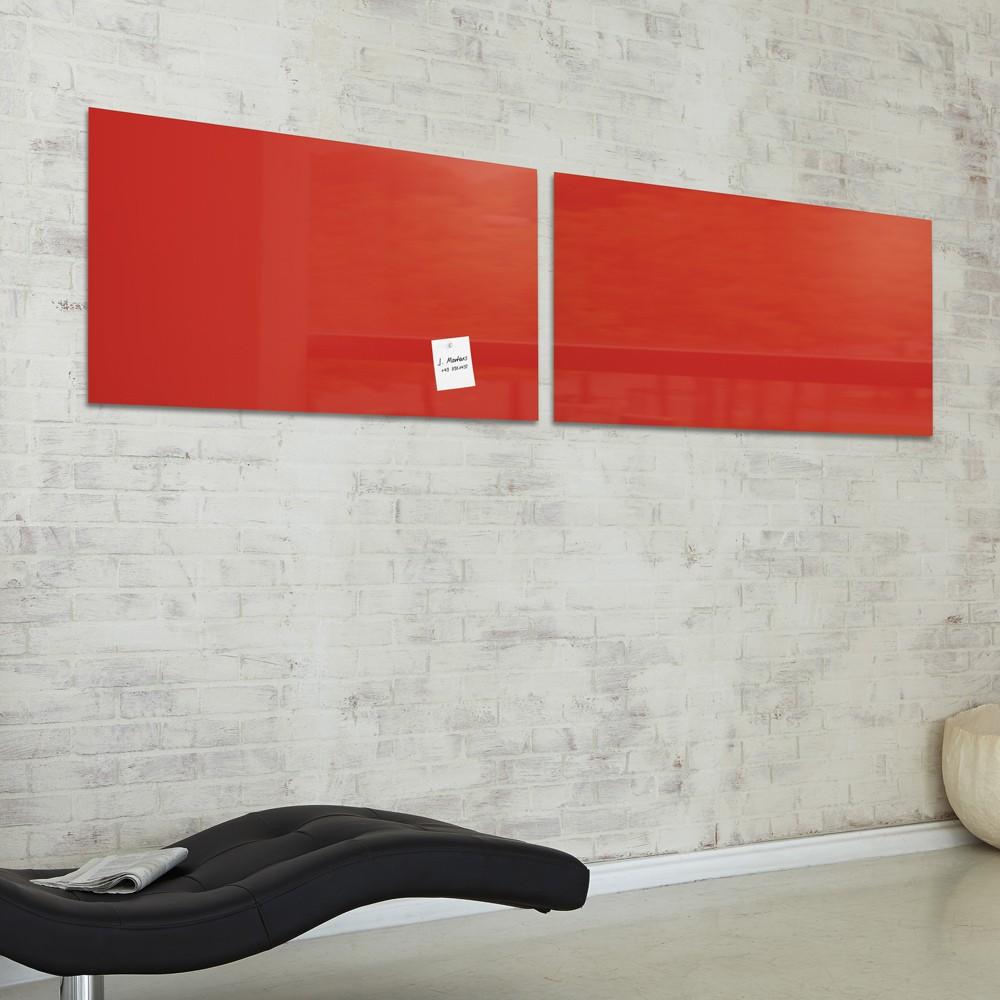 sigel glas magnettafel gl147 artverum 910x460x15mm rot eoffice24. Black Bedroom Furniture Sets. Home Design Ideas