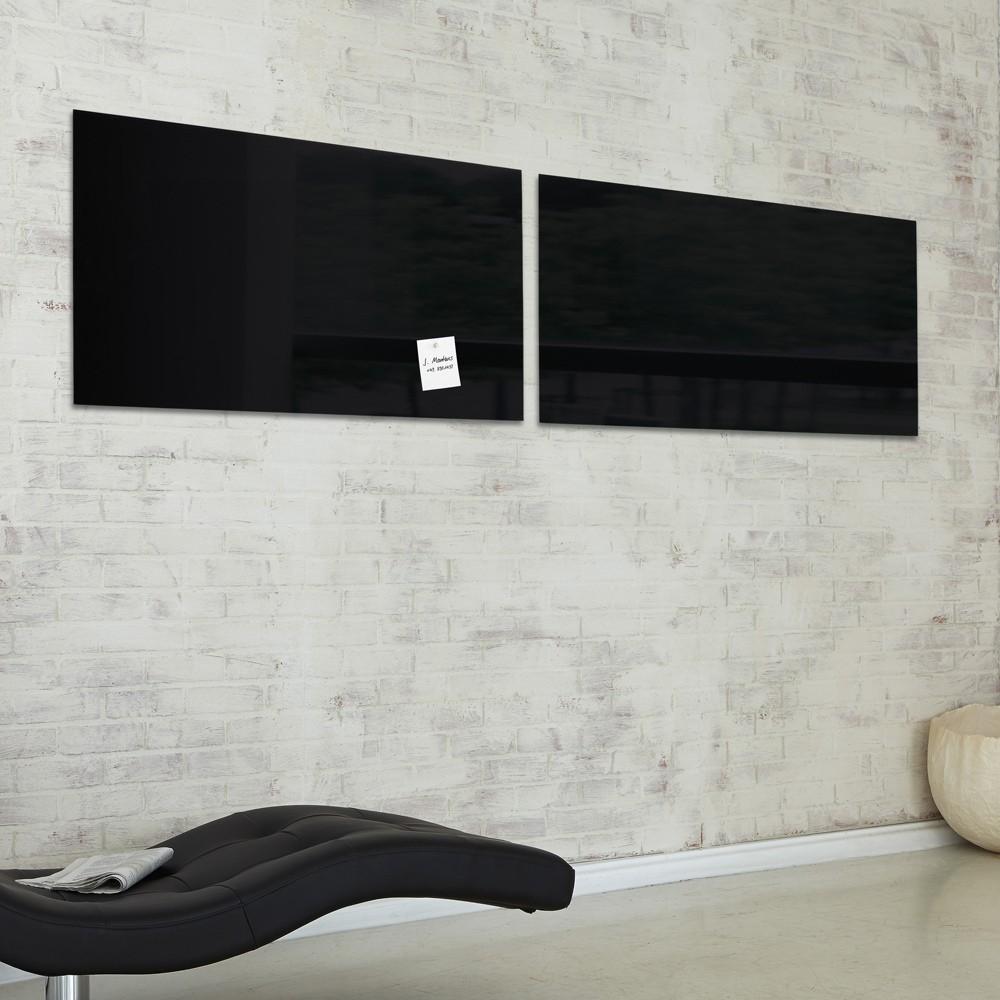 sigel glas magnettafel gl240 artverum 1300 x 550 x 15mm schwarz eoffice24. Black Bedroom Furniture Sets. Home Design Ideas