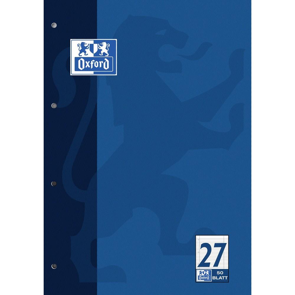 liniert mit Doppelrand 4er Pack Schulblock Schreibblock A4 Lineatur 27