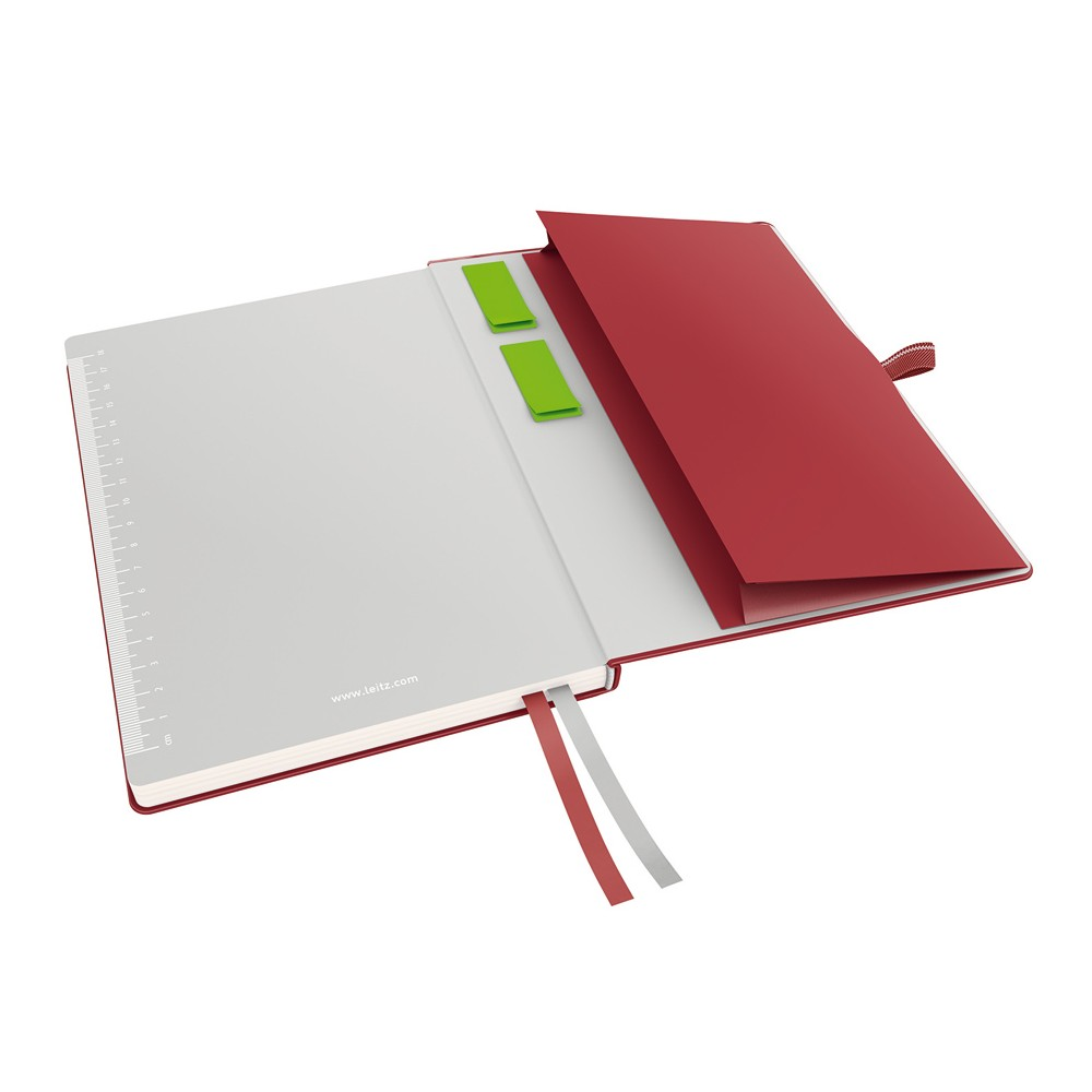 leitz notizbuch 4471 complete a4 kariert rot 80 blatt eoffice24. Black Bedroom Furniture Sets. Home Design Ideas