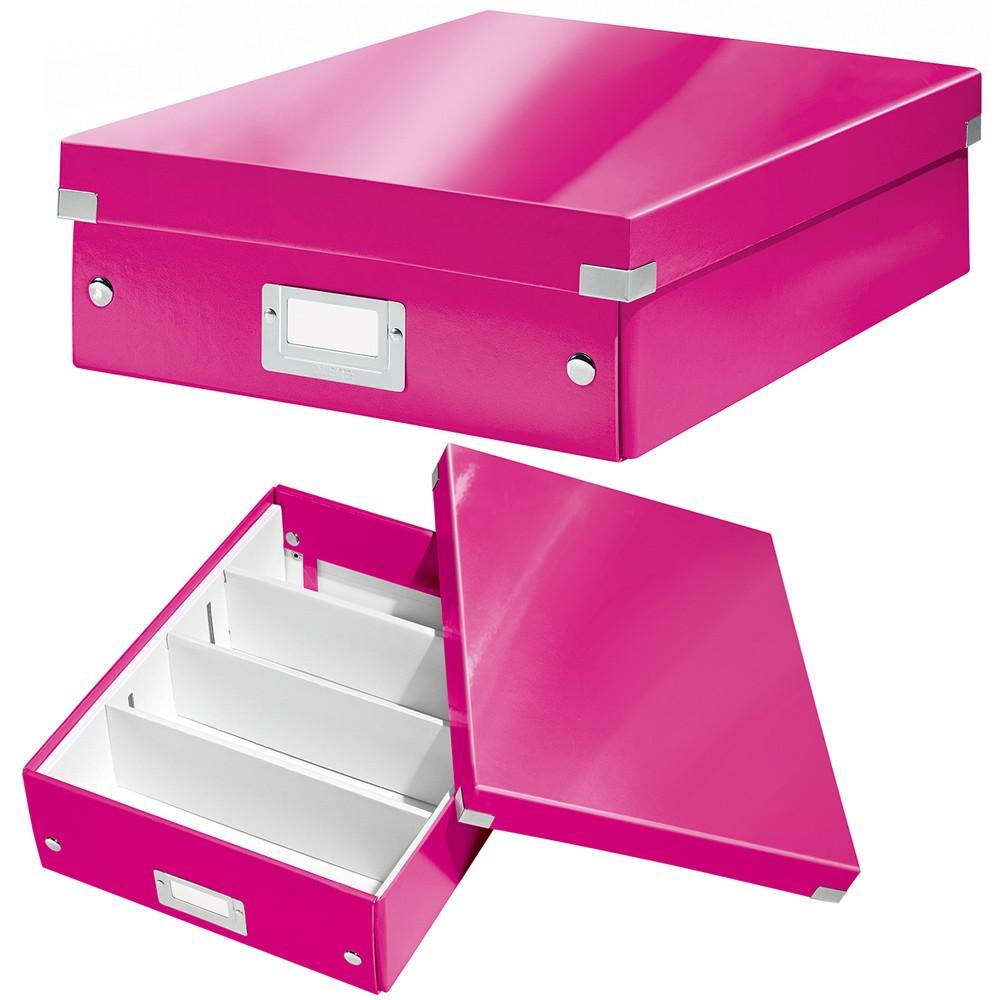 Leitz Aufbewahrungsbox 6058 Click Store A4 Wow Pink Eoffice24