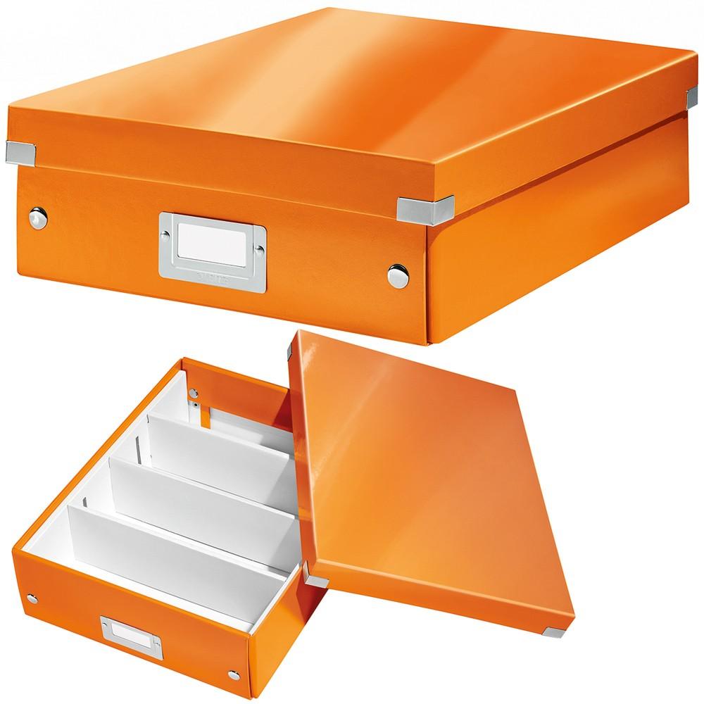 Leitz Aufbewahrungsbox 6058 Click Store A4 Wow Orange Eoffice24