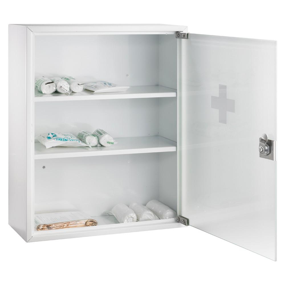 alco erste hilfe schrank 862 320 x 100 x 360 mm wei mit glastr eoffice24. Black Bedroom Furniture Sets. Home Design Ideas