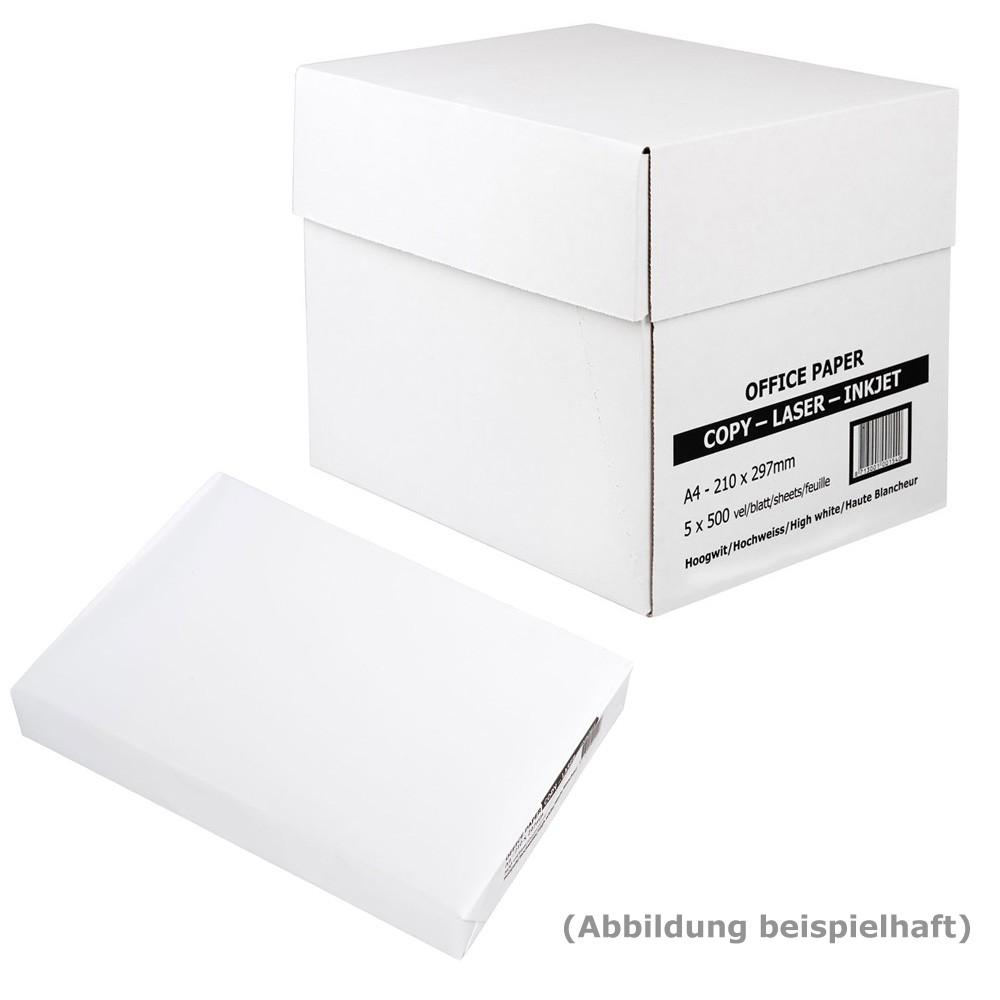 Heftstreifen für 500 blatt  Kopierpapier A4 80g weiß, 500 Blatt: eOFFICE24