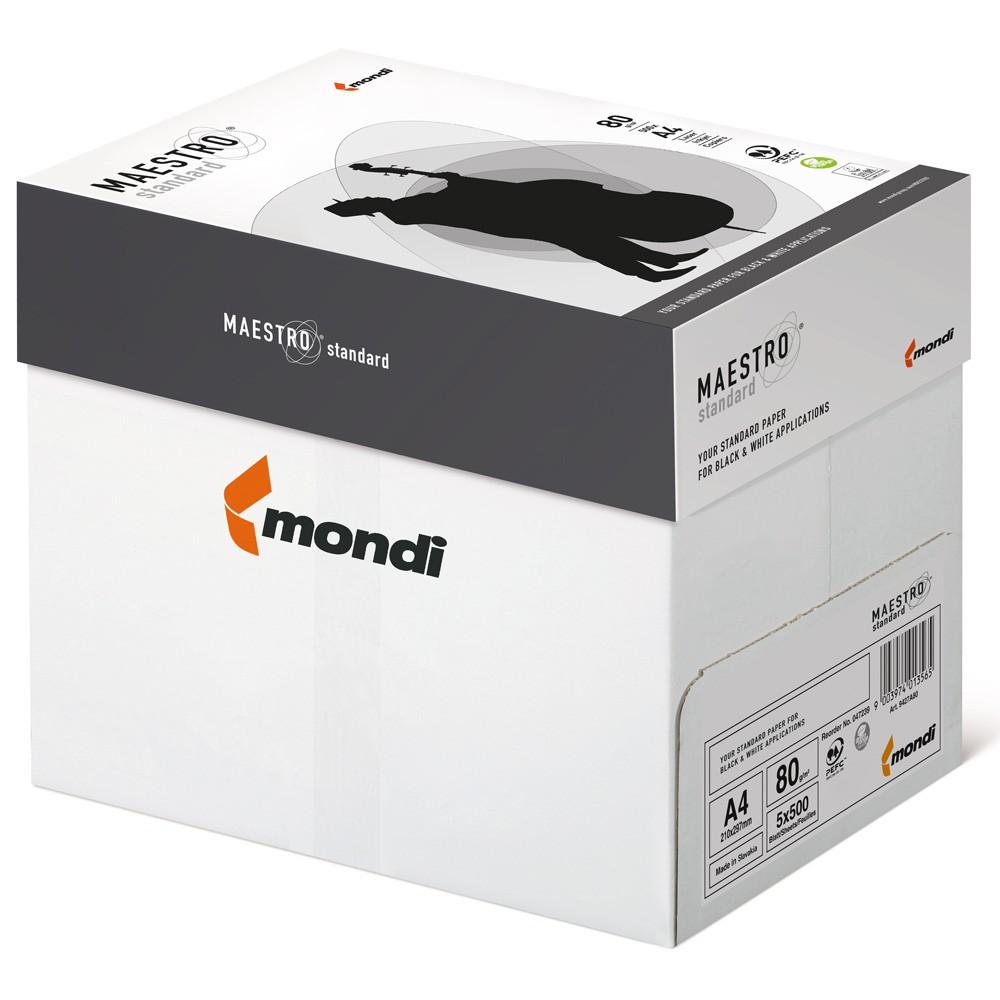 Heftstreifen für 500 blatt  Mondi Maestro Standard A4 80g Kopierpapier, 500 Blatt: eOFFICE24