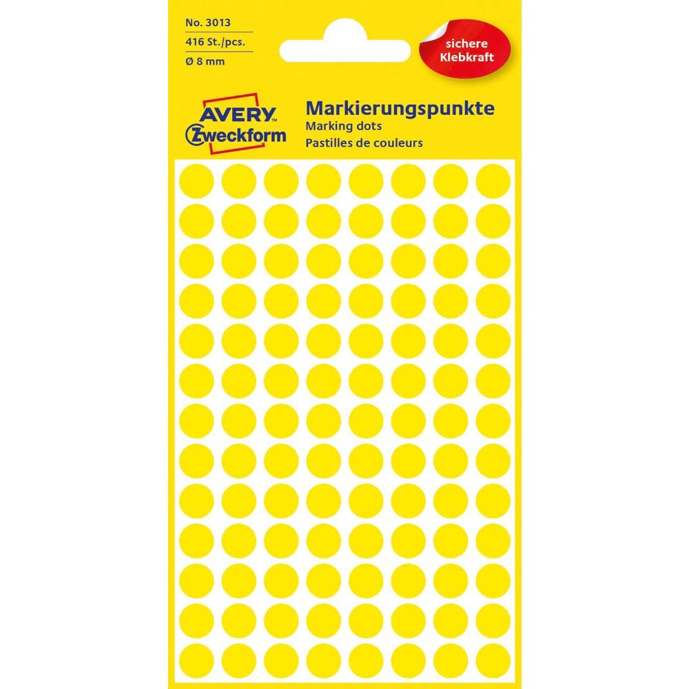Avery Zweckform Markierungspunkte Punkte Etiketten blau 8mm 416 Stück Markierung