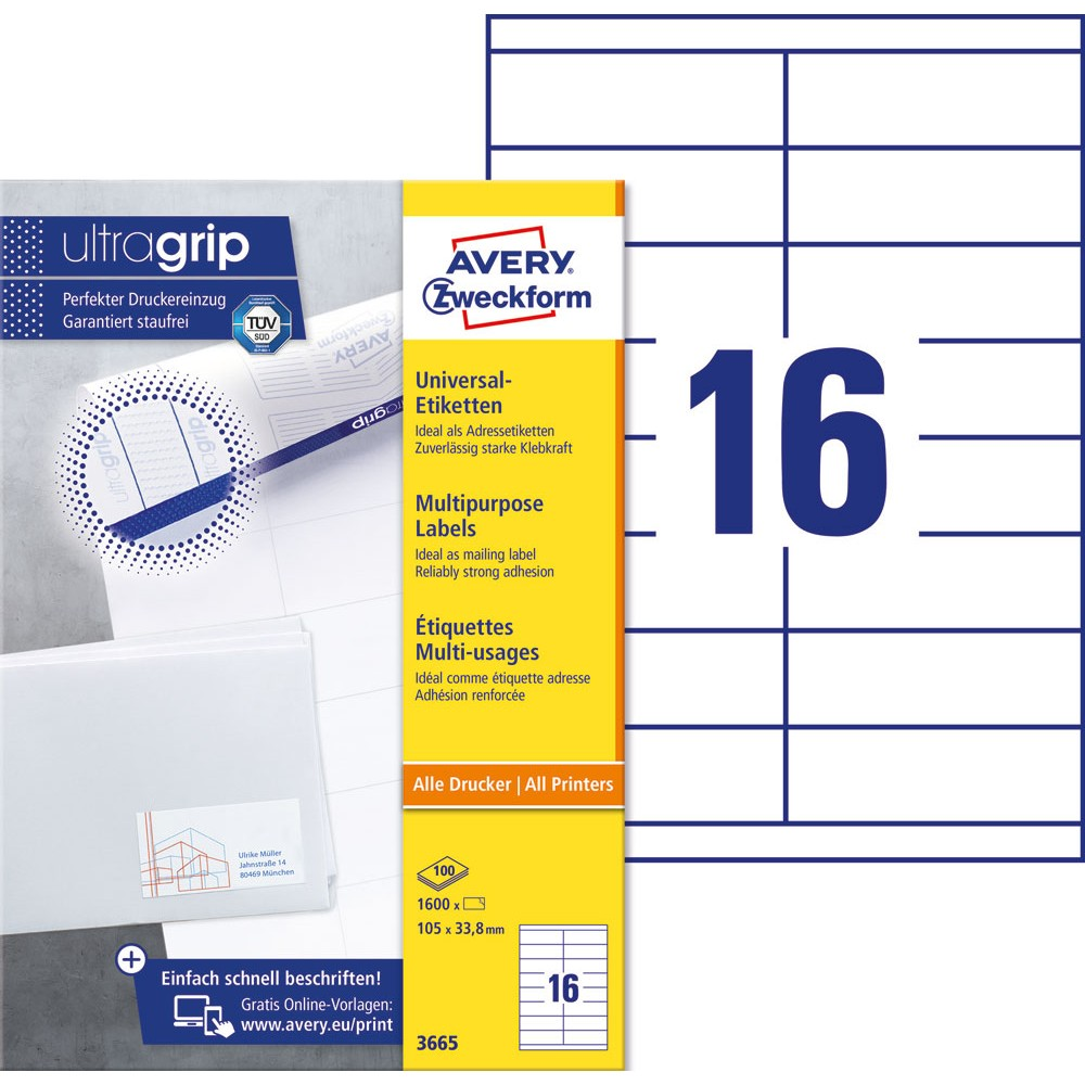 Klebeetiketten DIN A4 weiß 105x74mm Laser Inkjet Kopierer 10 Blatt