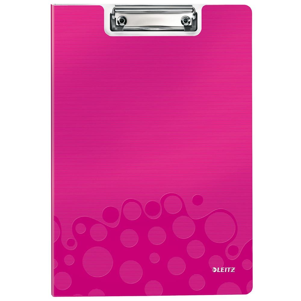 DIN A4 Polyfoam LEITZ Klemmbrett-Mappe WOW pink-metallic