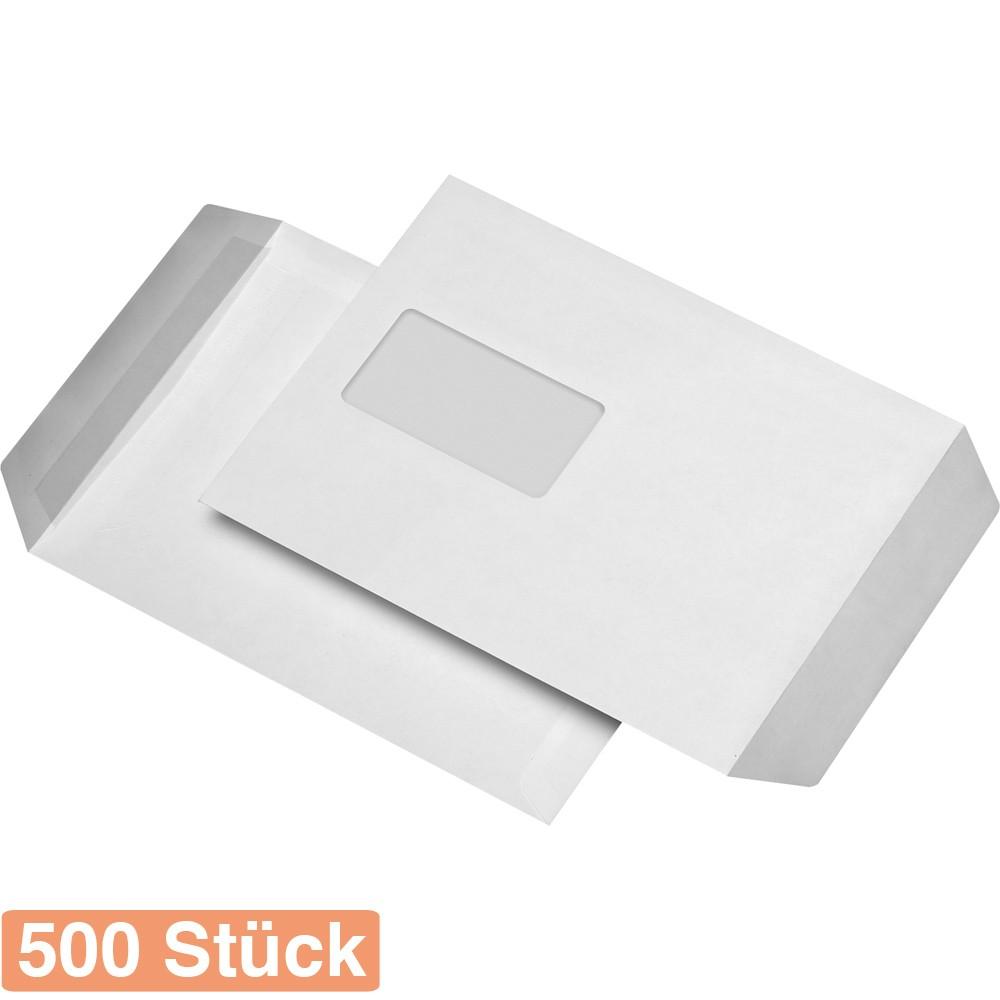 25 St Versandtaschen DIN B4 weiß ohne Fenster Haftklebend Briefumschläge