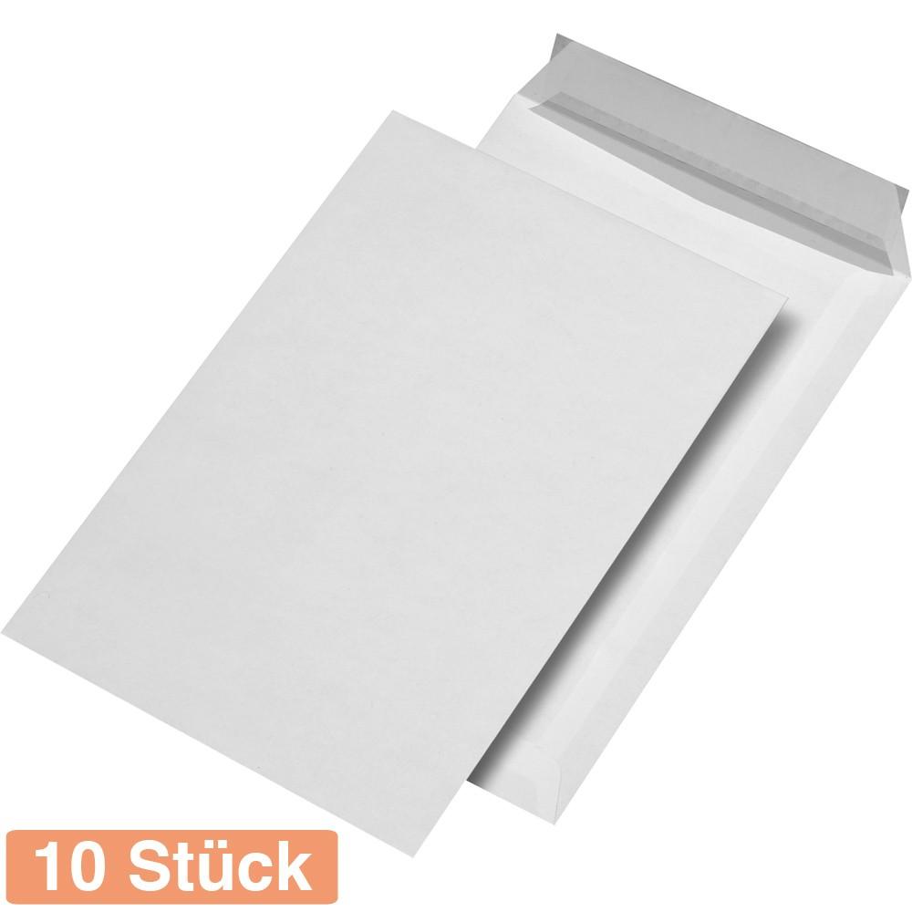 500 weiße Umschläge mit Fenster DIN C4 Versand Taschen haftklebend 120g//qm